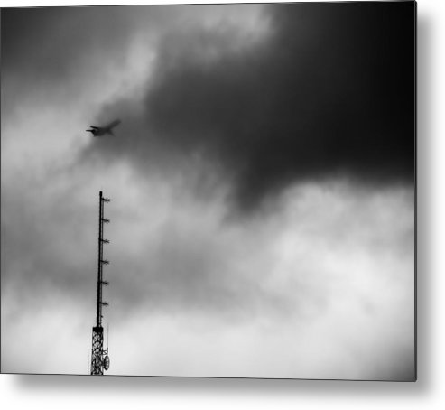 Disappearing Flight Metal Print featuring the photograph Disappearing Flight by Dan Sproul