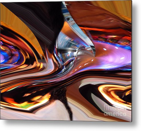 Abstract Art Metal Print featuring the photograph E-motional Dance by Cedric Hampton
