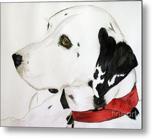 Animal.wildlife Metal Print featuring the painting Firedog by John W Walker