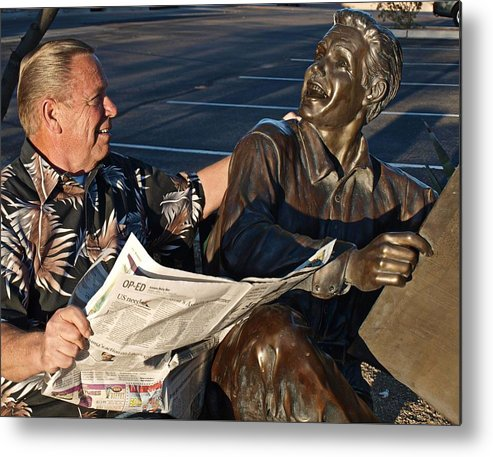 People Metal Print featuring the photograph Flesh And Bronze by Regina Arnold