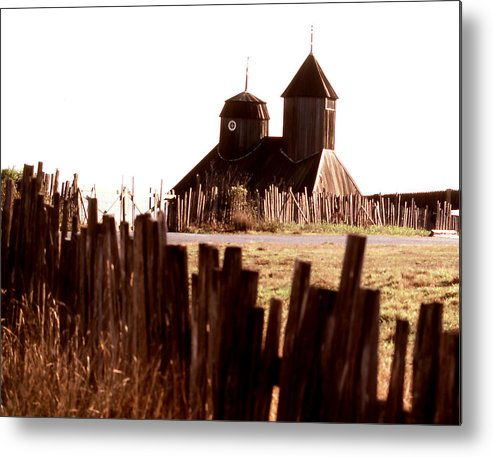 Architecture; Fort Ross; California; Still Lifes; Fine Art. Metal Print featuring the photograph Fort Ross by Robert Rodvik