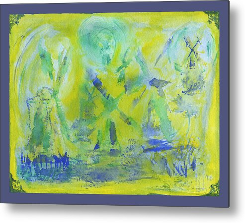 Windmills Metal Print featuring the painting Frame Of Mind by Bruce Blanchard