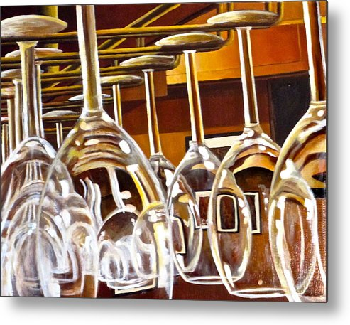 Wine Painting Metal Print featuring the painting Fully Stocked by Tim Eickmeier