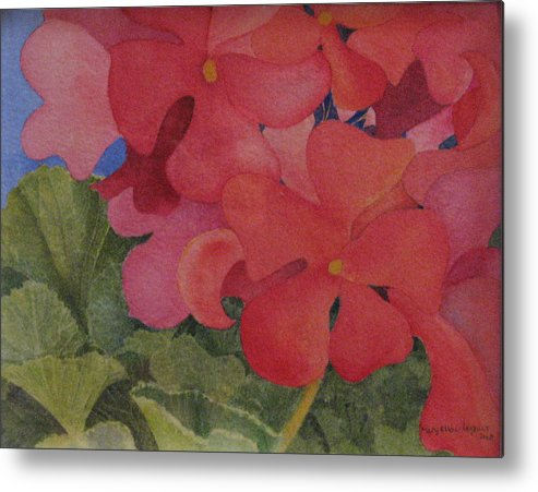 Florals Metal Print featuring the painting Generium by Mary Ellen Mueller Legault
