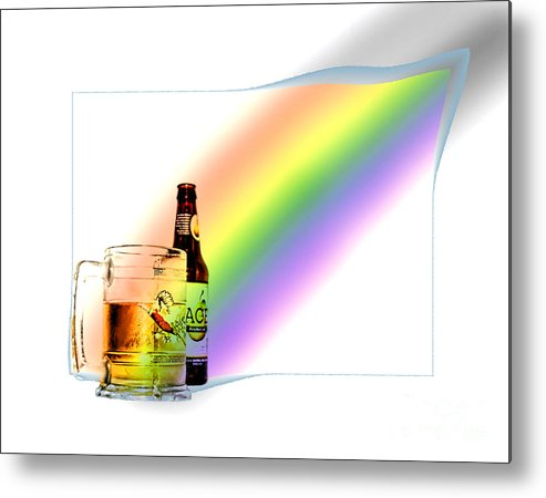 Beer Metal Print featuring the photograph Gold At The End Of The Rainbow by Stacey Nagy