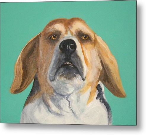 Beagle Metal Print featuring the painting His Beagleness by Laurel Porter-Gaylord