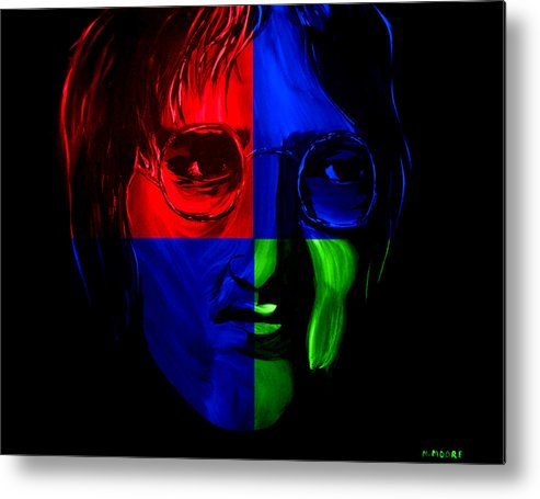 John Metal Print featuring the painting Imagine by Mark Moore