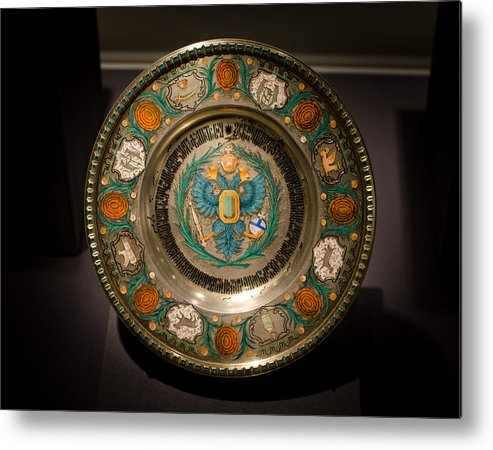 Faberge Metal Print featuring the photograph King's Plate by David Morefield