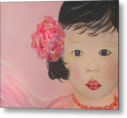 Angel Metal Print featuring the painting Kokoa Little Angel For Love Of The Heart by The Art With A Heart By Charlotte Phillips