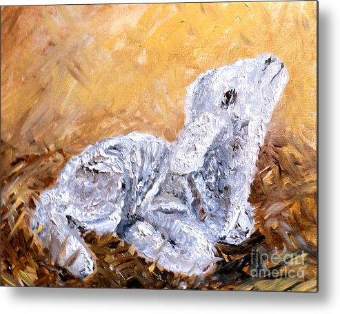 Lamb Metal Print featuring the painting Lamb by Amanda Dinan