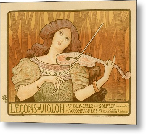Poster Metal Print featuring the photograph Lecons De Violon by Gianfranco Weiss