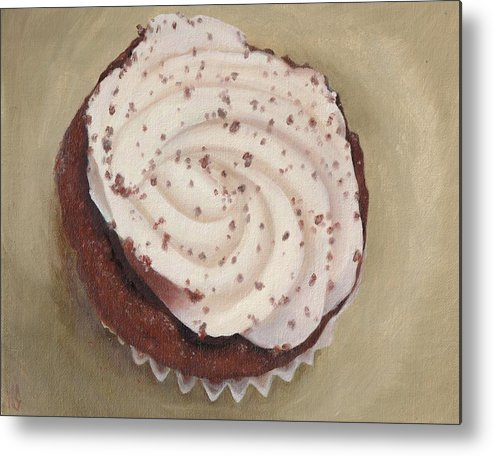 Food Metal Print featuring the painting Like Velvet Cake by Karen Stitt