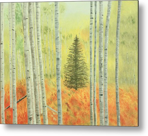 Pine Metal Print featuring the painting Lone Pine by Vickie Black
