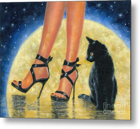 Sexy Feet Metal Print featuring the painting Moon Glow by Vickie Wade