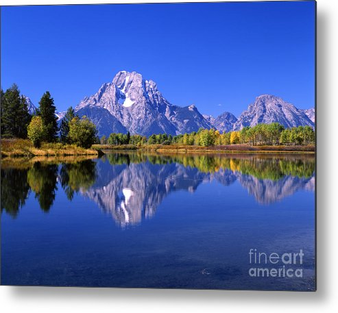 Afternoon Metal Print featuring the photograph Mount Moran Afternoon Light by Mark Sunderland