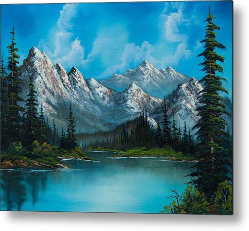 Landscape Metal Print featuring the painting Nature's Grandeur by C Steele