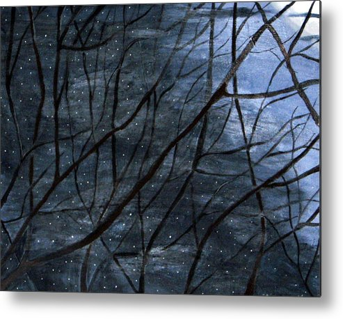 Landscape Metal Print featuring the painting Nightlife by Kori Vincent