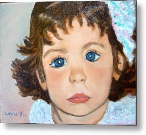 Portrait Metal Print featuring the painting Nikki by Laurie Morgan