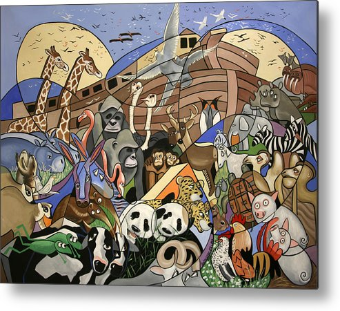 Noahs Ark Metal Print featuring the painting Noahs Ark by Anthony Falbo