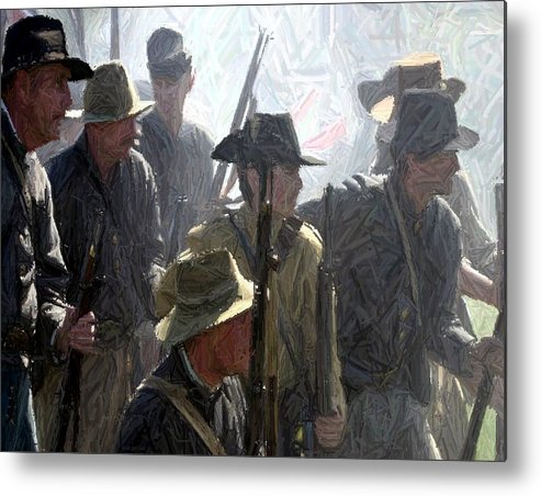 American Metal Print featuring the photograph Observing And Awaiting Orders - Perryville Ky by Thia Stover