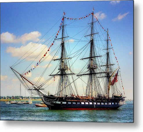 Uss Constitution Metal Print featuring the photograph Old Ironsides 1014 by Jeff Stallard