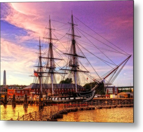 Uss Constitution Metal Print featuring the photograph Old Ironsides 1015 by Jeff Stallard