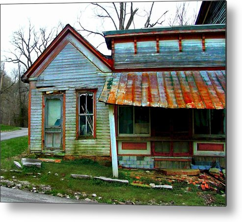 1937 Flood Metal Print featuring the photograph Old Leavenworth Indiana by Julie Dant
