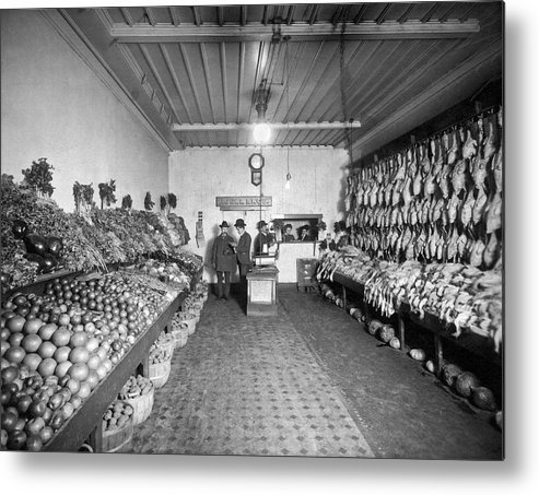 1035-1098 Metal Print featuring the photograph Old Time Grocery Store by Underwood Archives