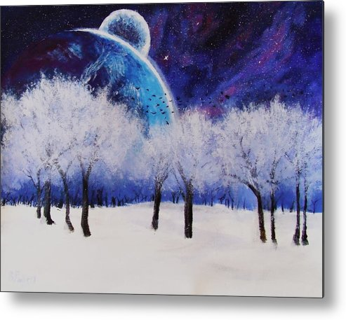 Mass Effect Metal Print featuring the painting One More Story by Stephanie Fimbres