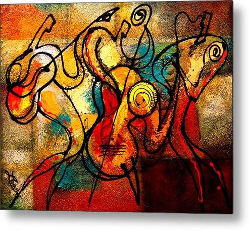 Metal Print featuring the painting Ragtime by Leon Zernitsky