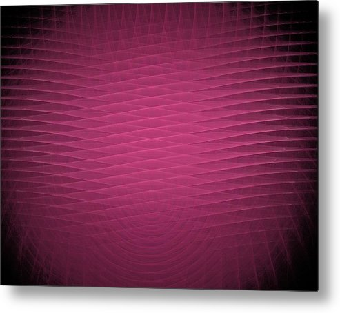 Red Metal Print featuring the painting Red Fractal Background by Bruce Nutting