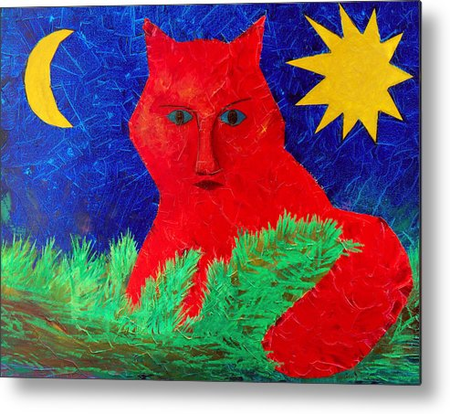 Fantasy Metal Print featuring the painting Red by Sergey Bezhinets