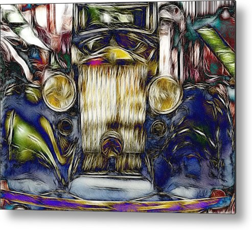 Rolls Royce Metal Print featuring the digital art Rolls by Devalyn Marshall