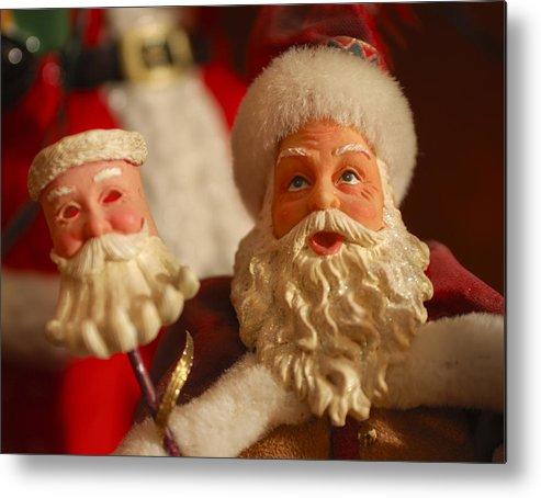 Santa Claus Metal Print featuring the photograph Santa Claus - Antique Ornament - 12 by Jill Reger