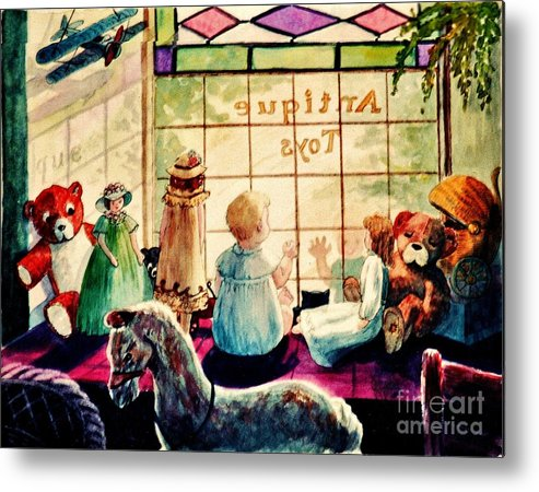 Antique Shop Metal Print featuring the painting Sarah's Bear by Marilyn Smith