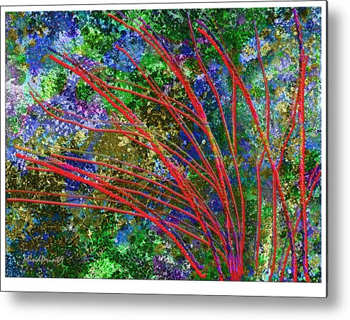 Woods Metal Print featuring the digital art Seasonal by Asok Mukhopadhyay