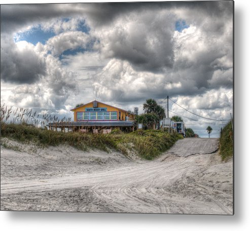 Palm Coast Metal Print featuring the photograph South Beach Grill by Michael Schwartzberg