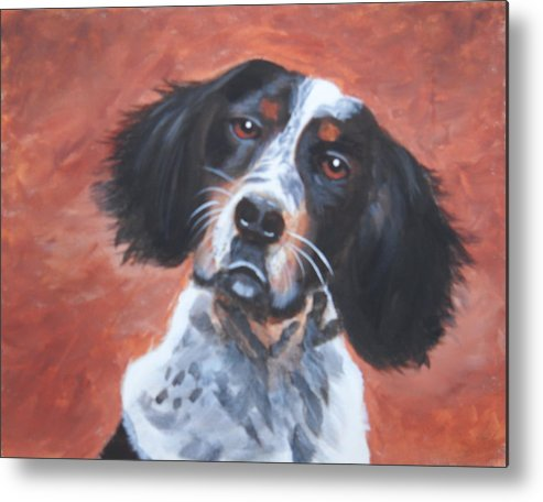 Pets Metal Print featuring the painting Spaniel by Kathie Camara