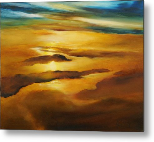 Alaska Metal Print featuring the painting The Last Rip by Debbie Anderson