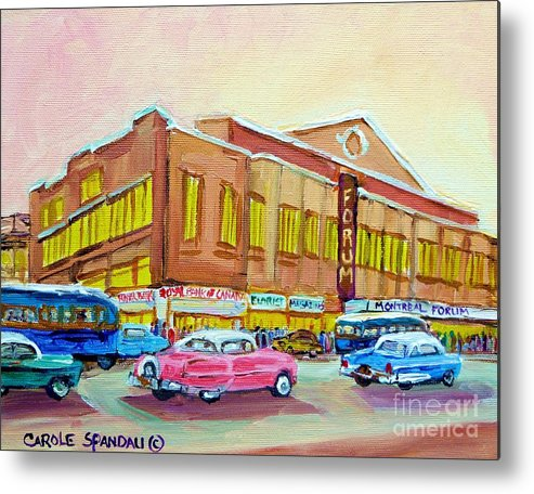 Montreal Metal Print featuring the painting The Montreal Forum by Carole Spandau