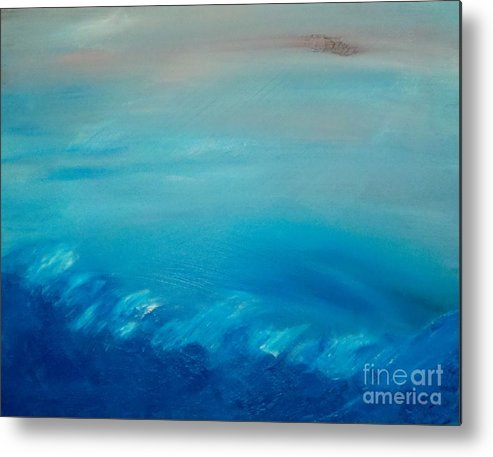 Sea Metal Print featuring the painting Truman by Tracy Evans