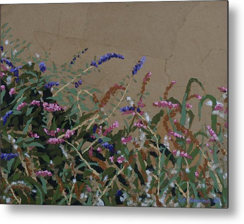 Flowering Butterfly Bush Metal Print featuring the painting Tyler by Leah Tomaino