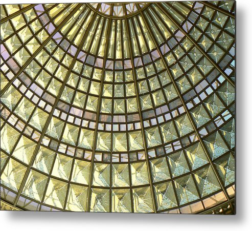 Geometric Abstract Metal Print featuring the photograph Union Station Skylight by Karyn Robinson