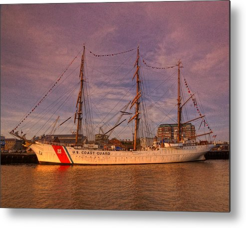 United Metal Print featuring the photograph Uscg Eagle 002 by Jeff Stallard