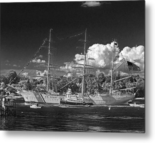 United Metal Print featuring the photograph Uscg Eagle 003 by Jeff Stallard