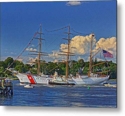 United Metal Print featuring the photograph Uscg Eagle 004 by Jeff Stallard