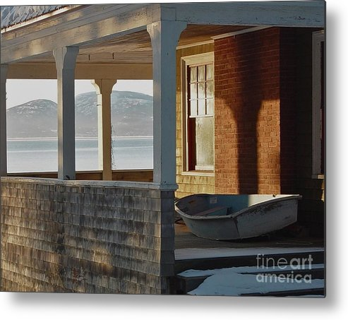 Boat Metal Print featuring the photograph Waiting For Spring by Christopher Mace
