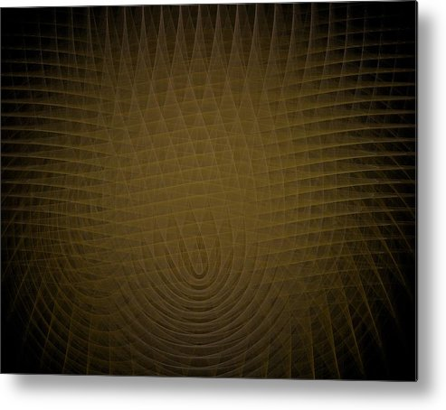 Yellow Metal Print featuring the painting Yellow Fractal Background by Bruce Nutting