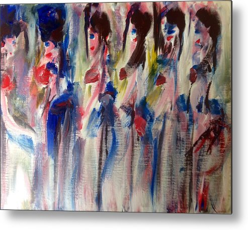 Way Metal Print featuring the painting Your Facing The Wrong Way by Judith Desrosiers