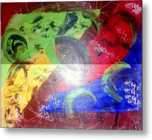 Z Metal Print featuring the painting Z by Travis Fors